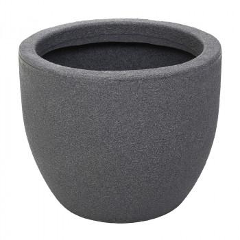Декоративный горшок под бетон RUMBA ROTO серый